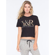 YOUNG & RECKLESS Y&R Womens Crop Tee