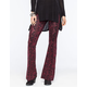 FULL TILT Vertical Floral Womens Flare Pants