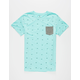 SHOUTHOUSE Geo Banks Mens Pocket Tee