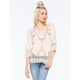 TAYLOR & SAGE All Over Crochet Womens Blouse