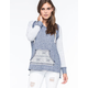 SOCIALITE Ethnic Contrast Womens Hoodie