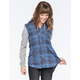FULL TILT Boyfriend Womens Hooded Flannel Shirt