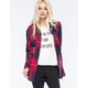 FULL TILT Extreme Fit Plaid Womens Flannel Shirt