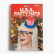 GAMA GO USA Party Hats