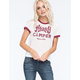 FULL TILT Happy Camper Womens Ringer Tee