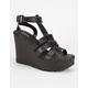 SODA Cabbot Chunky Platform Gladiator Heels