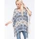 FULL TILT Native Crochet Womens Poncho
