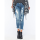 HYDRAULIC Ripped Womens Slouchy Skinny Jeans
