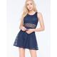 BAILEY BLUE Crochet Lace Racerback Dress