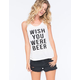 RETRO DOLL Wish You Were Beer Womens Tank