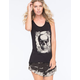 RETRO DOLL Skull Step Hem Womens Tank