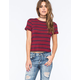 FULL TILT Wide Stripe Fitted Womens Tee