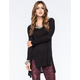 FULL TILT Eyelet Lace Side Womens Tunic