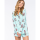 COSMIC LOVE Owl Womens Flannel Shirt