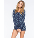 COSMIC LOVE Floral Womens Short Onesie