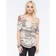 FULL TILT Ethnic Flounce Womens Top