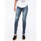 ALMOST FAMOUS Premium Distressed Womens Skinny Jeans