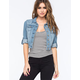 HIGHWAY Rolled Sleeve Womens Denim Jacket