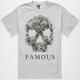 FAMOUS STARS & STRAPS Rose Skull Mens T-Shirt