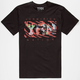 YRN Tiger Print Logo Mens T-Shirt