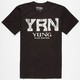 YRN Quilted Logo Mens T-Shirt
