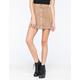 FULL TILT Snap Front Suede Skater Skirt