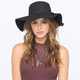 Faux Felt Womens Floppy Hat