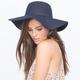 Faux Felt Womens Floppy Hat