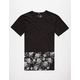 BLUE CROWN Dark Floral Mens Tall Tee