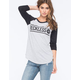 YOUNG & RECKLESS Bar Circle Womens Baseball Tee
