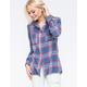 DEREK HEART Womens Flannel Shirt