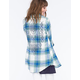 DEREK HEART Tribal Back Womens Flannel Shirt