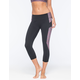 FULL TILT SPORT Detail Side Inset Womens Capri Leggings