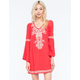 FLYING TOMATO Embroidered Bell Swing Dress