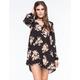 CALIFORNIA GYPSY Open Back Floral Swing Dress