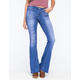 CELEBRITY PINK Raw Hem Womens Flare Jeans