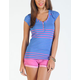 VOLCOM Between Lines Womens Henley Tee