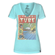 HURLEY Tales From The Tube Womens Perfect V Tee