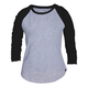 HURLEY Solid Perfect Raglan Womens Baseball Tee