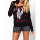 METAL MULISHA Biker Babe Womens Fleece Hoodie