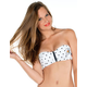 VOLCOM Dotted Line Zip Bandeau Bikini Top