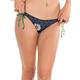 VOLCOM Dotted Line Loop Tie Side Skimpy Bikini Bottom