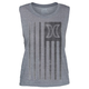 HURLEY Flagged Biker Womens Tank
