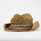 Multicolored Band Straw Cowboy Hat