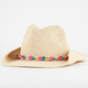 Colored Bead Band Girls Cowboy Hat