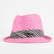 Straw Zebra Band Girls Fedora