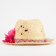 Straw Flower Girls Fedora