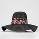 Floral Band Womens Floppy Hat
