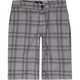 DC Plaid Chino Boys Shorts