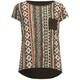 FULL TILT Ethnic Print Girls Pocket Tee